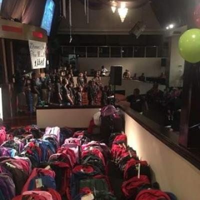 Bookbags Are Ready For Distribution